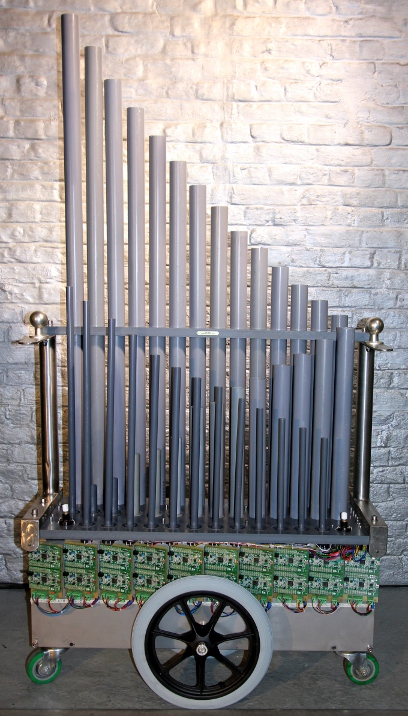 Hybr: An electroacoustical pipe organ by Godfried-Willem Raes